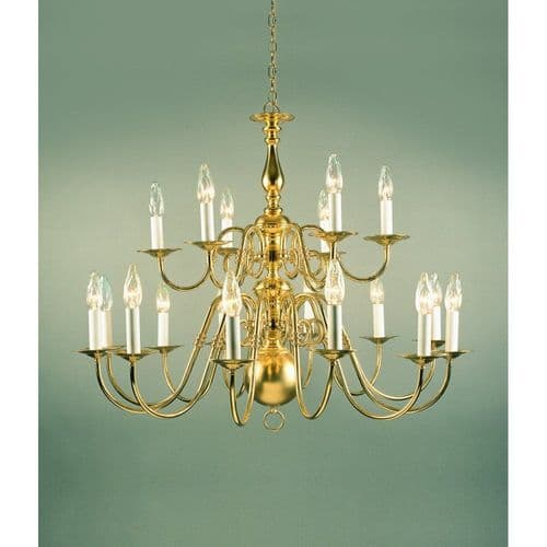 Impex Lighting BF19350/18 Antwerp Style Polished Brass